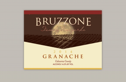 Bruzzoni Wine Label