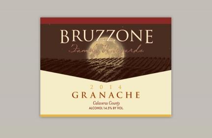 Bruzzoni Wine Label